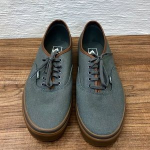 Vans - Men's 11 Gray with Brown Leather Trim